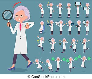 flat type Research Doctor old women_2