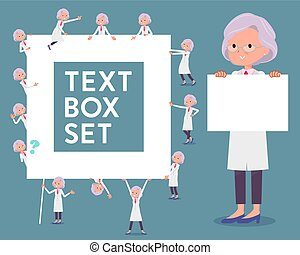 flat type Research Doctor old women_text box