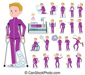 flat type school boy jersey White_sickness - A set of school...