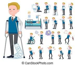 flat type school boy White_sickness - A set of school boy...