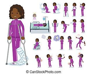 flat type school dark skin girl purple jersey_sickness - A...