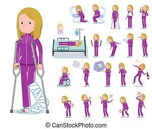 flat type school fair skin girl purple jersey_sickness - A...