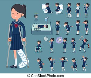 flat type school girl Sailor suit_sickness