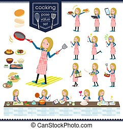 flat type school girl White_cooking - A set of school girl...