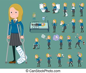 flat type school girl White_sickness