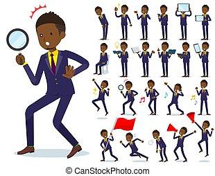 flat type Short hair businessman black_Action