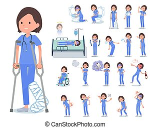 flat type surgical wear women_sickness - A set of Surgical...