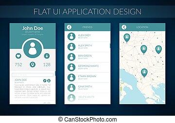 Flat UI Design Concept