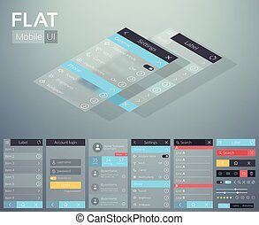 Flat UI Mobile Menu Design Concept