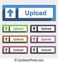 Flat Upload Button