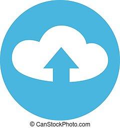 flat upload cloud icon