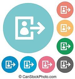 Flat user logout icons