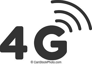 Flat Vector 4G Icon