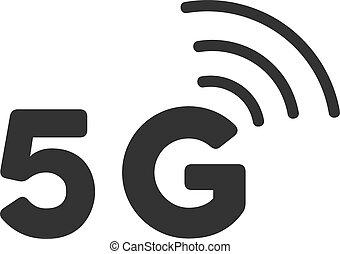 Flat Vector 5G Icon