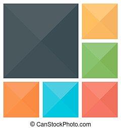 Flat vector background. Color illustration