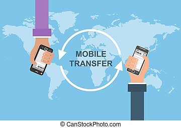 Flat vector concept of mobile banking