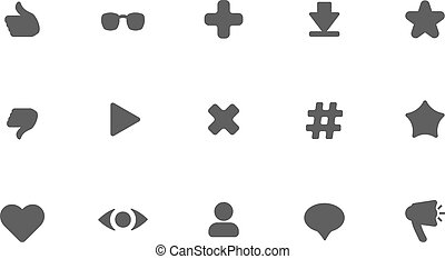 flat vector dark icons on white background .