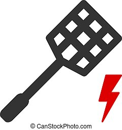 Flat Vector Electric Fly Killer Icon