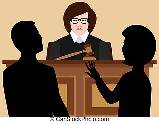 Flat Vector Female Judge