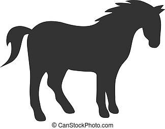 Flat Vector Horse Icon