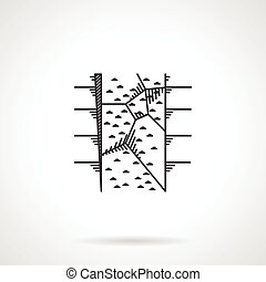 Flat vector icon for climbing wall