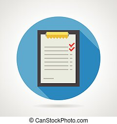 Flat vector icon for clipboard with