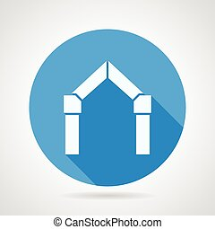 Flat vector icon for gates arch