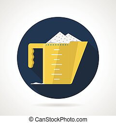 Flat vector icon for measuring cup