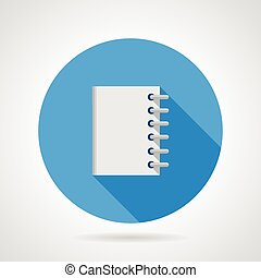 Flat vector icon for notebook