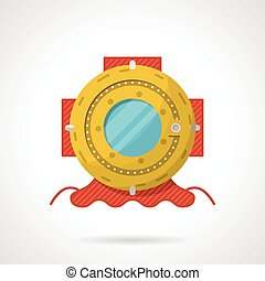 Flat vector icon for scuba helmet