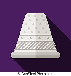 Flat vector icon for sewing thimble