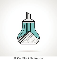 Flat vector icon for sugar bowl