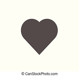 Flat vector icon heart isolated.