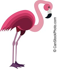 Illustration of a Pink Flamingo