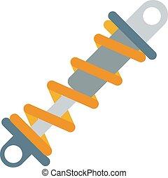 Flat vector illustration of shock absorber icon metal car...