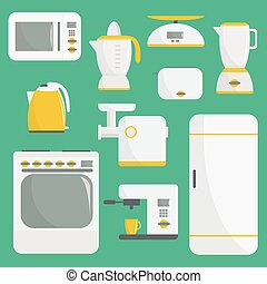 Flat vector kitchenware illustration