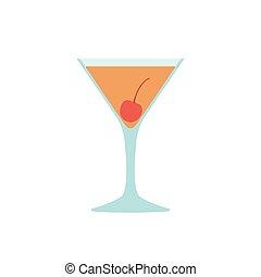 Flat vector Manhattan - Vector beverage in flat style -...