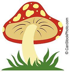 Flat Vector Mushroom
