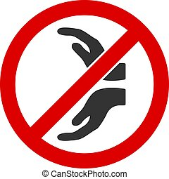 Flat Vector No Care Hands Icon