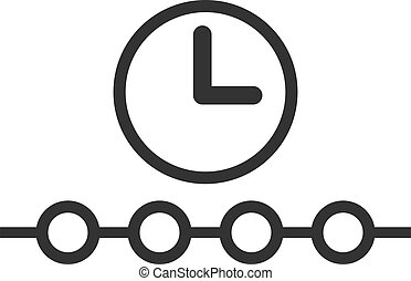 Flat Vector Timeline Icon