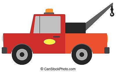 Flat Vector Tow Truck