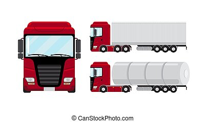 Flat vector truck