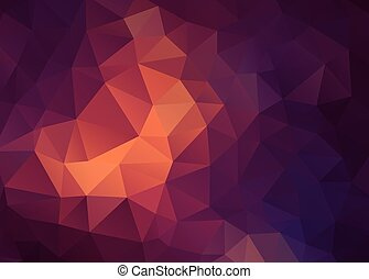 Flat Vector vintage color geometric triangle wallpaper