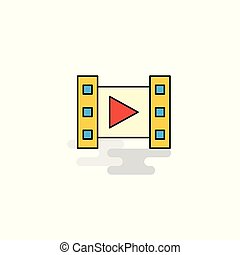 Flat Video Icon. Vector