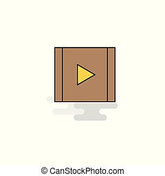 Flat Video Icon. Vector