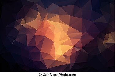 Flat vintage color triangle background