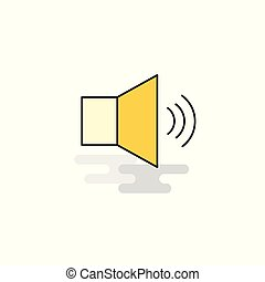 Flat Volume Icon. Vector
