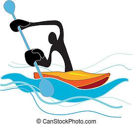 Flat Water Canoe shadow man - Shadow man he Flat Water Canoe...