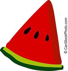 Flat watermelon, illustration, vector on white background.