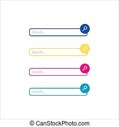 flat web design elements search bar vector icon graphic illustration